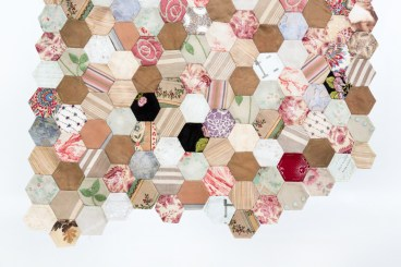 Image of hand sewn patchwork by Ruth Singer