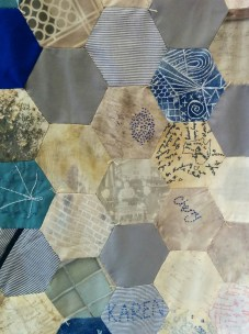 Detail from Harefield Hospital quilt commission, 2015.