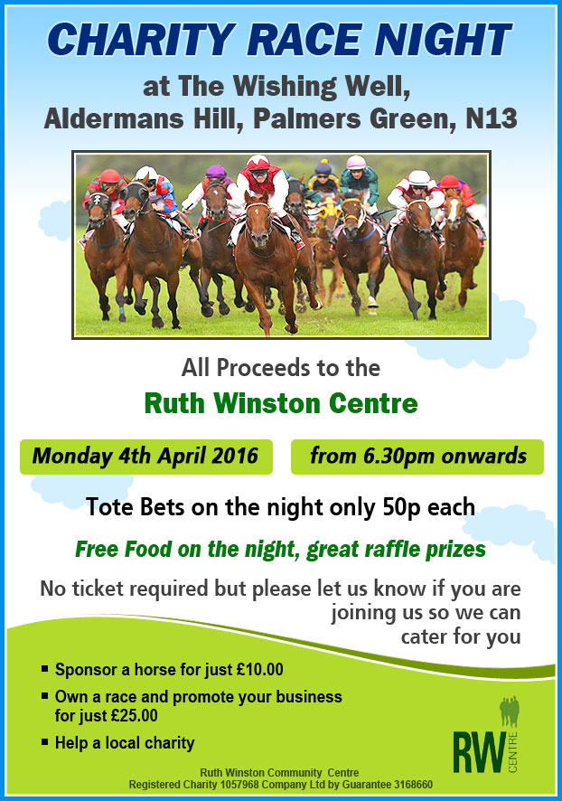 Charity Night advert
