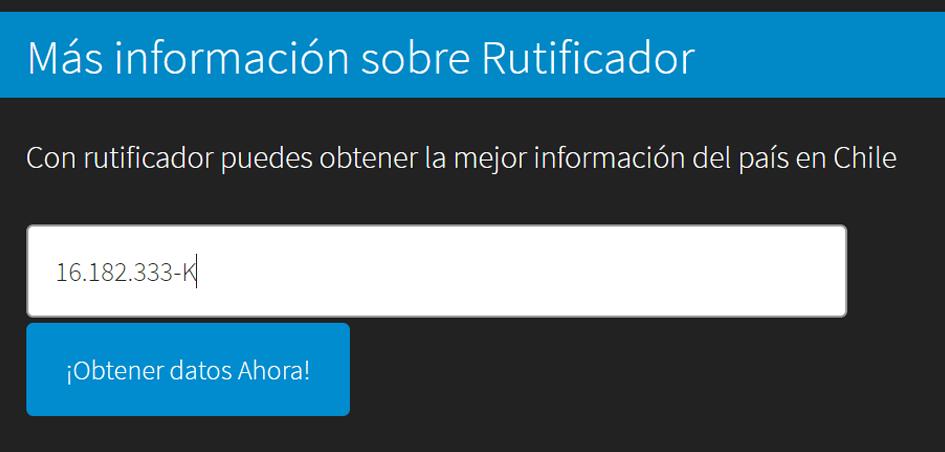 Saber el RUT y el Nombre de una Persona en Chile