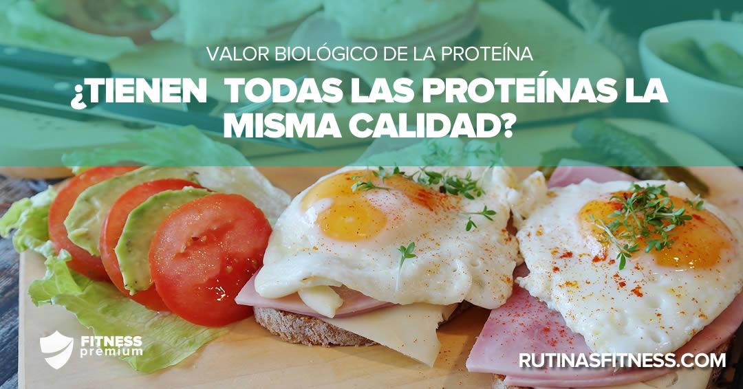 Valor biológico de la proteína. ¿Sabes lo qué es?