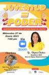 La regidora Digna Chávez invita a la conferencia vía Zoom: «Juventud = Poder»
