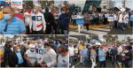 Simpatizantes del gobierno asisten al Congreso en apoyo al Presidente Abinader