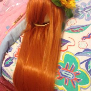 Wig styling with finished headpiece