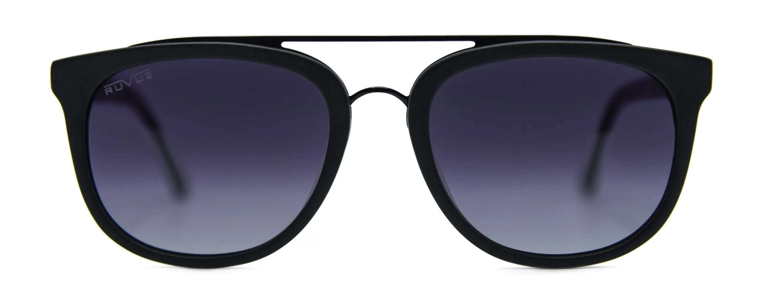 Zena - Matte Black - Black Gradient Polarized Grey Lenses - Front