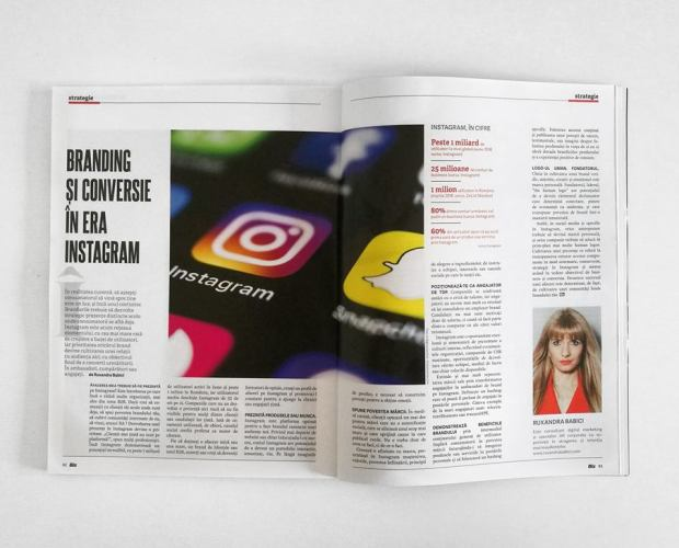 Revista Biz. Strategie de Business. Branding si Conversie in Era Instagram. Ruxandra Babici