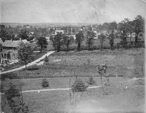 Looking north from Berwick and Paulding, circa 1900