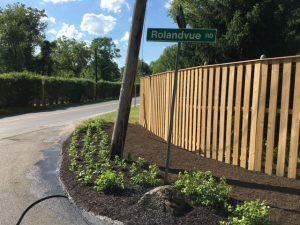 After: Rolandvue Road at Bellona after improvements