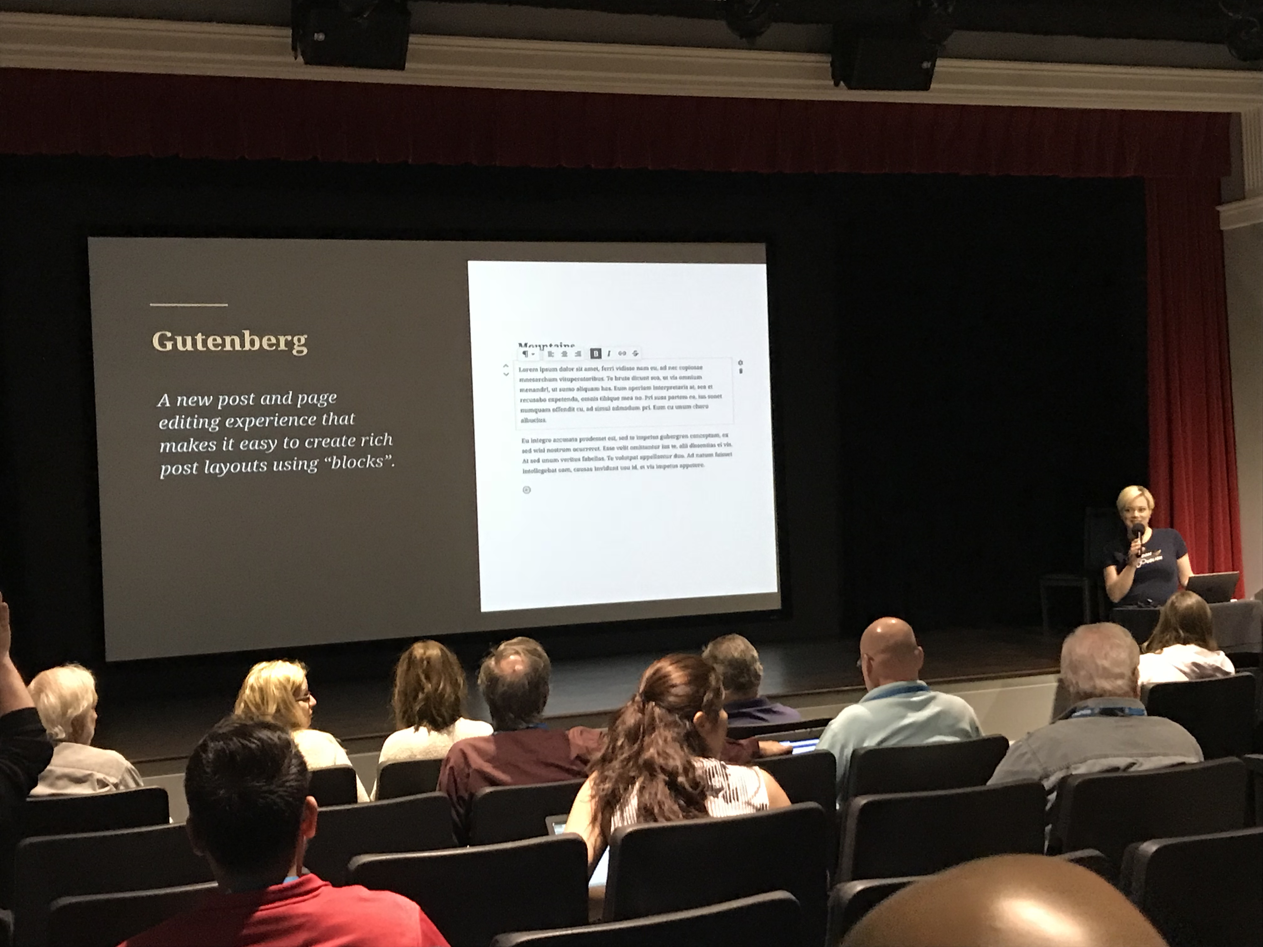 Shannon Smith talks about Gutenberg at WordCamp YYC