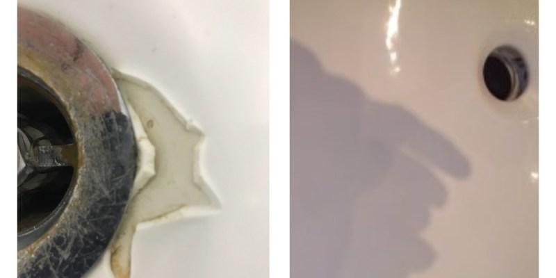 Ремонт отлома на ванне