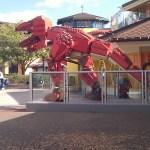 tyrannosaurus rex dinosaur built from lego in legoland florida