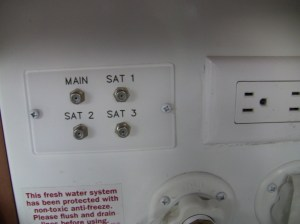 RV Satellite or Cable TV Connections  Fifth Wheel