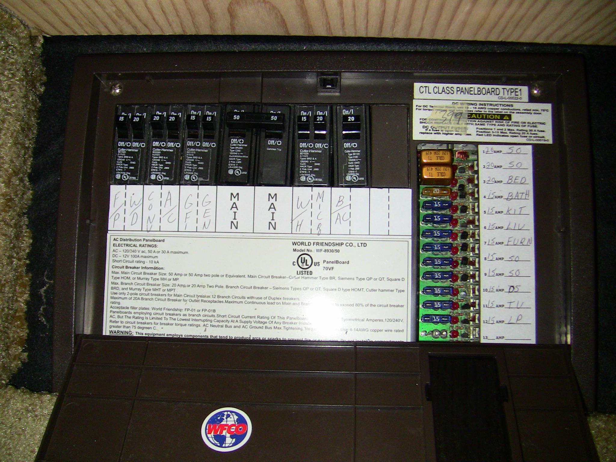 electrical panel board rv electrical panel board
