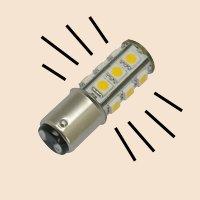 Led light bayonet style base emitting light in 360 degree pattern