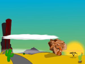 RV Desert Camping