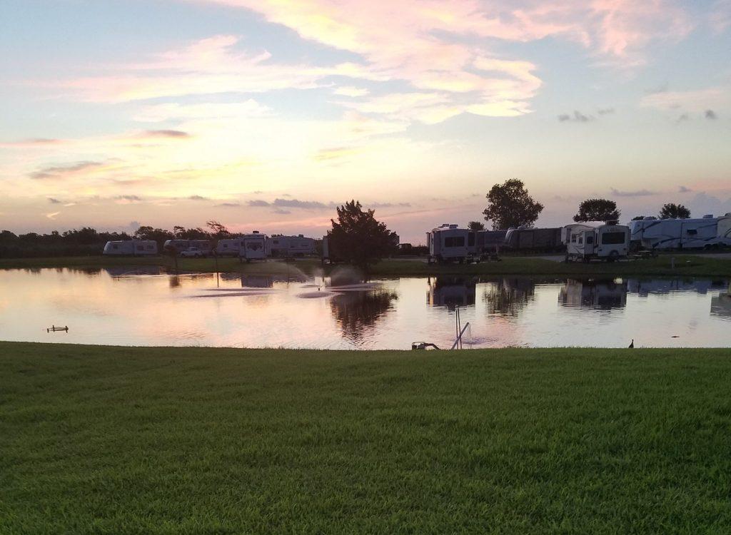 Picturesque view of Pleasure Island RV Park Port Arthur Texas