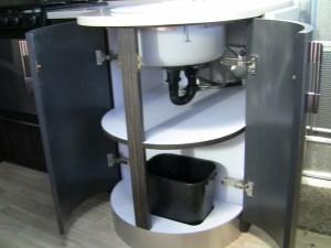 Airstream International Kitchen Sink Access Doors Open