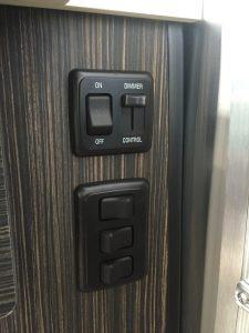 Airstream International Side of Sink Controls