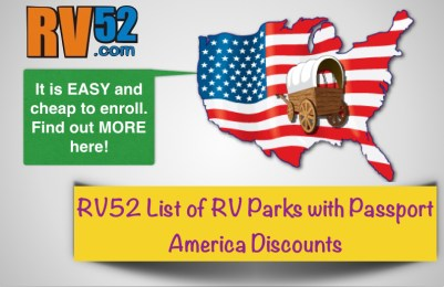 RV52 List of RV Parks with Passport America Discounts