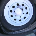 Our RV tires big blowout OR A little bit about protecting your RV