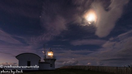 Crowdy Head lighthouse at night
