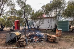 Campfire is ready. Kimba Museum.