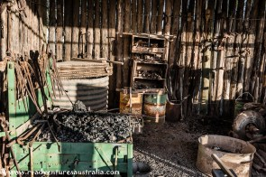 Inside the smithy's workshop