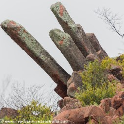 Unusual rock formations. Gawler Ranges NP