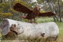 Eagle sculpture on the Roora walking trail. Kimba SA