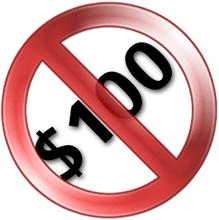 Not $100!