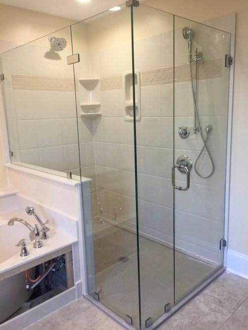 Bathroom Remodel Shower Door Case Handyman Richmond Va Rva