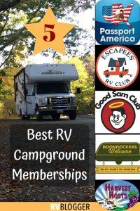 5 Best RV Campground Memberships