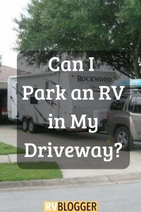 Can I Park an RV in my driveway