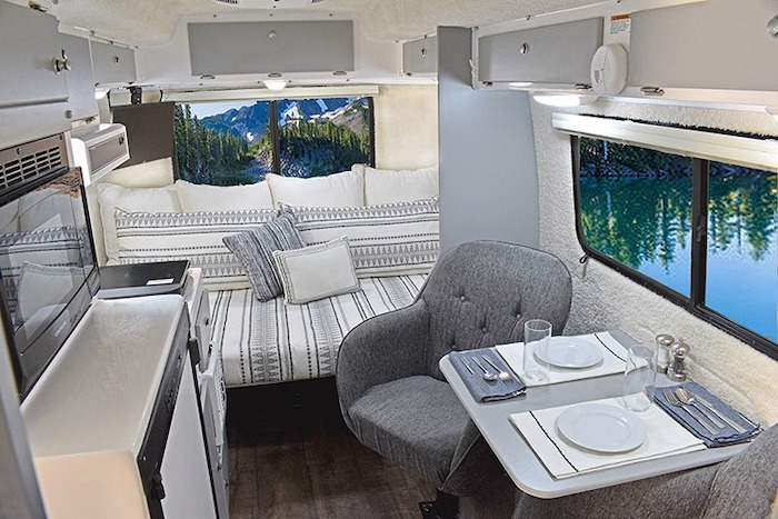 Casita Small Camper with Bathroom Interior