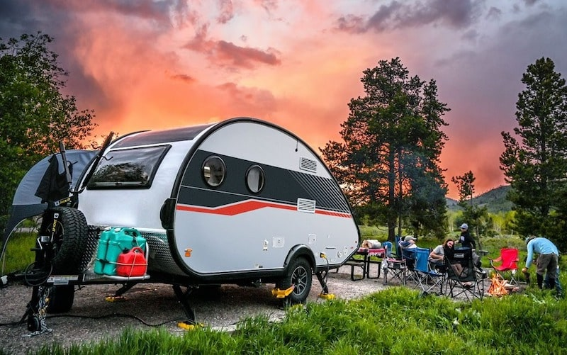 TAB 400 small teardrop camper with bathroom