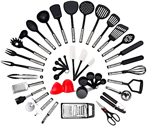huge kitchen utensil set