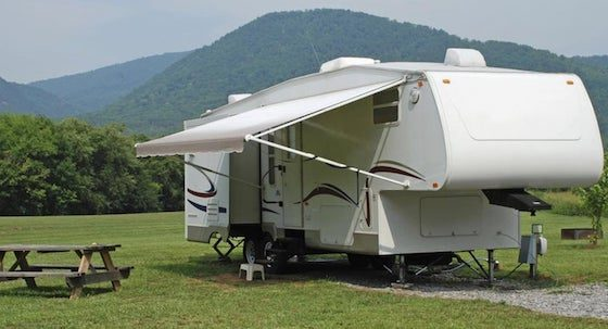 Homemade RV Awning Cleaner