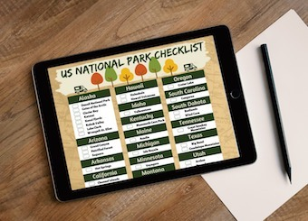photograph about Printable National Park Checklist known as Property RVBlogger