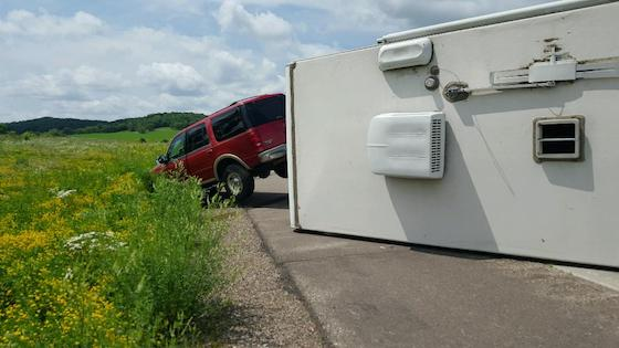 RV Tip Over