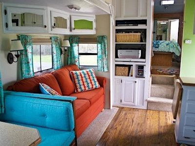 Awesome Travel Trailer RV Decorating Ideas