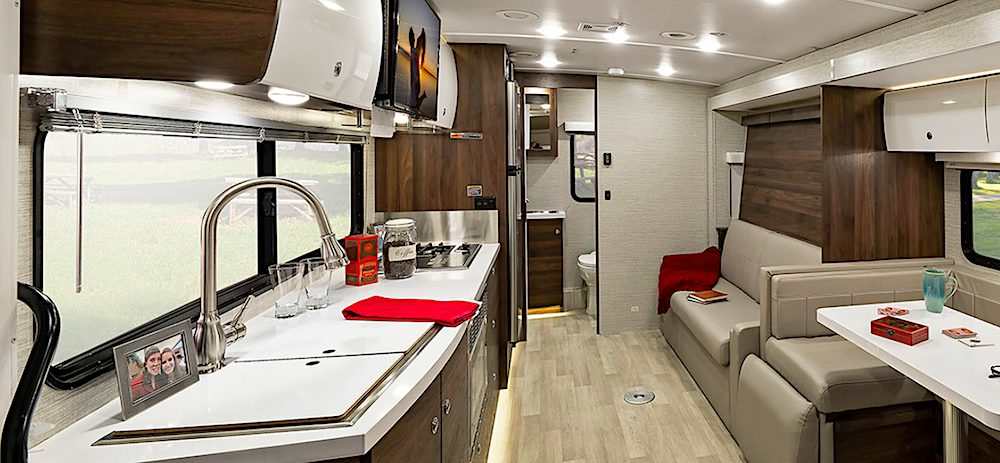 Blacksford RV Rental Winnebago View Interior
