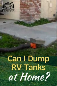 Can I Dump RV Tanks at Home