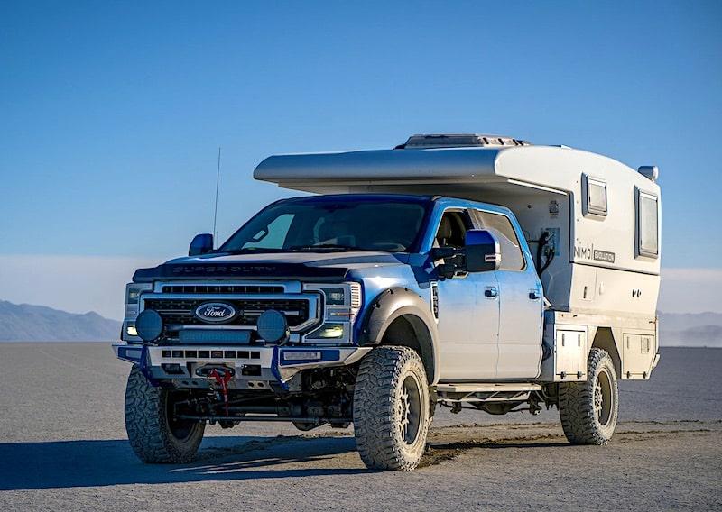 Nimbl Evolution flat bed truck camper