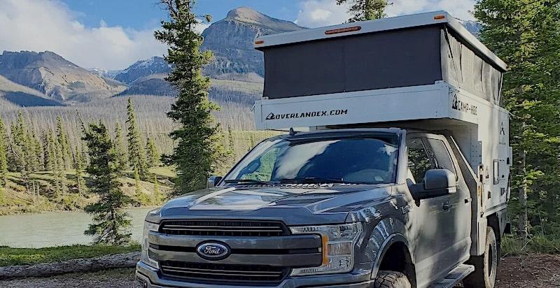 Overland flat bed truck camper