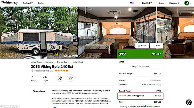 Popup Camper Rental Booking Form