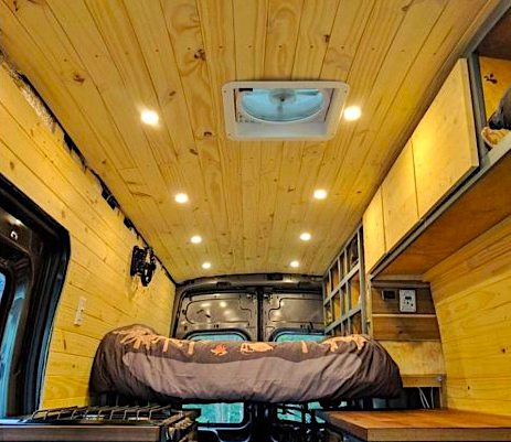 Wood Panel RV Ceiling Material