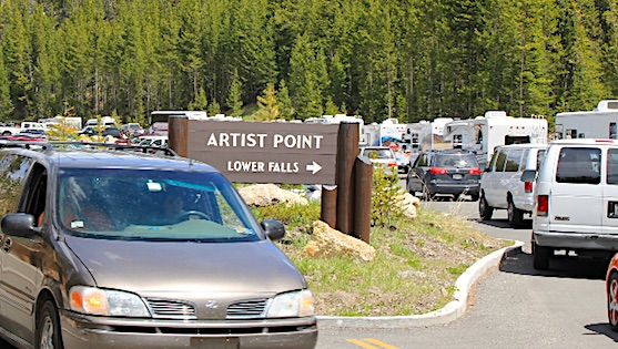 RV Parking in Yellowstone