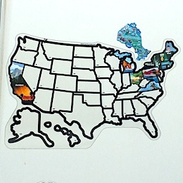 US STICKER MAP-RVBLOGGER