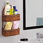 Wall Mount Wicker Basket