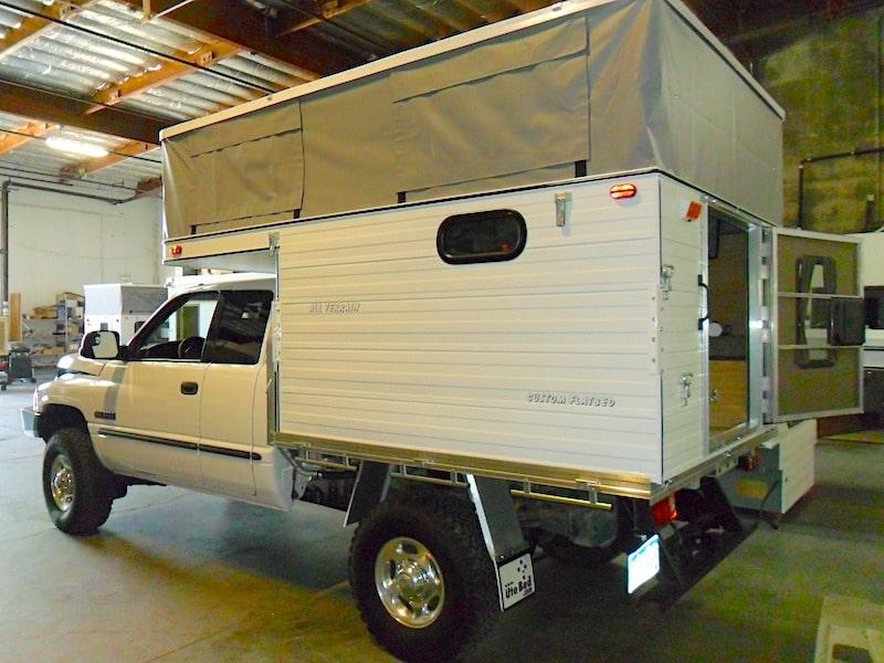 all Terrain Cougar Puma flat bed truck camper
